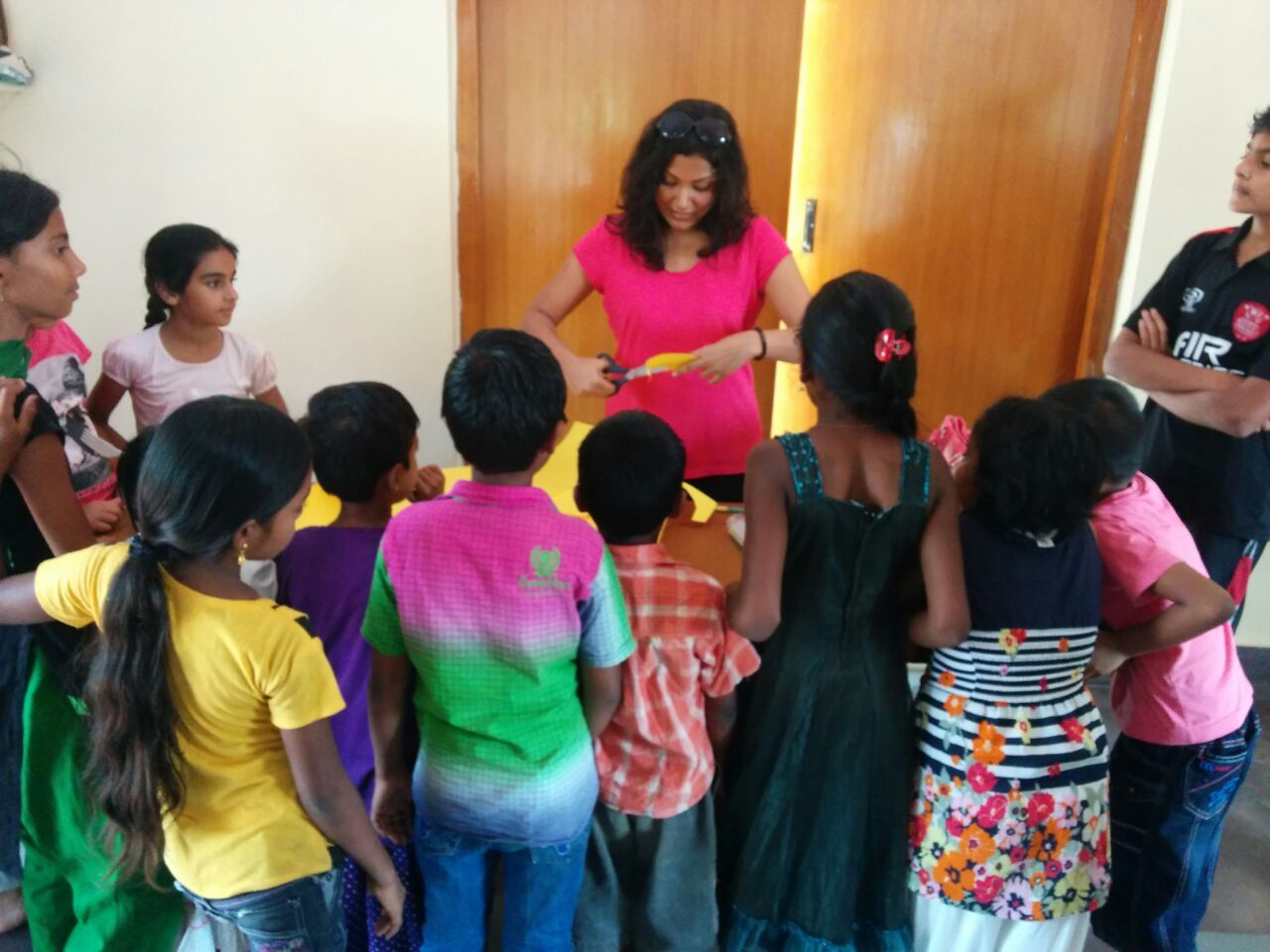 Recycled craft camp for kids of the community organised by Mind Masala