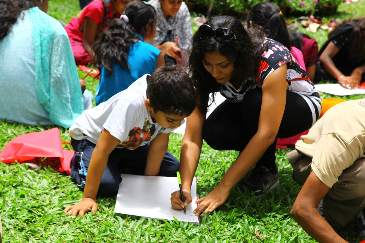 Art and Origami Camp for children at Cubbon Park organised by Art Mantram Foundation
